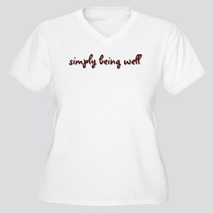 Simply Being Well Women's Plus Size V-Neck T-Shirt