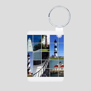 Outer Banks Lighthouses Aluminum Photo Keychain