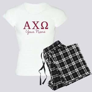 Alpha Chi Omega Personalize Women's Light Pajamas