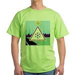 Giant Snowflake Warning Green T-Shirt