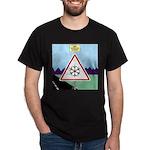 Giant Snowflake Warning Dark T-Shirt