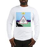 Giant Snowflake Warning Long Sleeve T-Shirt