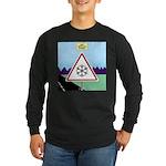 Giant Snowflake Warning Long Sleeve Dark T-Shirt