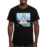 Giant Snowflake Warnin Men's Fitted T-Shirt (dark)