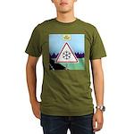 Giant Snowflake Warni Organic Men's T-Shirt (dark)