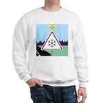 Giant Snowflake Warning Sweatshirt