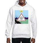 Giant Snowflake Warning Hooded Sweatshirt