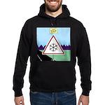 Giant Snowflake Warning Hoodie (dark)