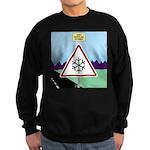 Giant Snowflake Warning Sweatshirt (dark)