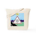 Giant Snowflake Warning Tote Bag