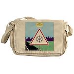 Giant Snowflake Warning Messenger Bag