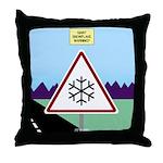 Giant Snowflake Warning Throw Pillow