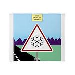 Giant Snowflake Warning Throw Blanket
