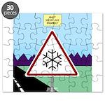 Giant Snowflake Warning Puzzle