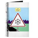 Giant Snowflake Warning Journal