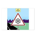 Giant Snowflake Warning Postcards (Package of 8)