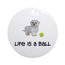 Maltese Life Ornament (Round)