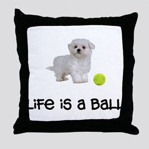 Maltese Life Throw Pillow