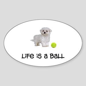 Maltese Life Sticker (Oval)