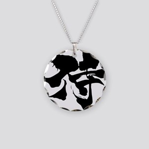Kanji Samurai Necklace Circle Charm