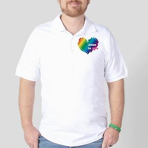 Jesús te ama Golf Shirt
