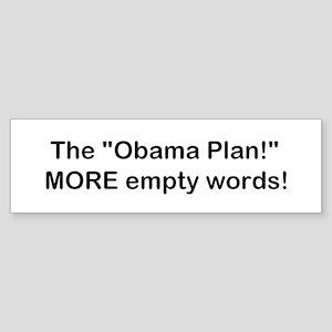 Obama Plan! Sticker (Bumper)