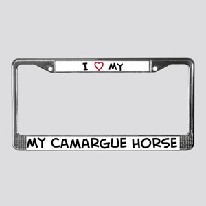 I Love Camargue Horse License Plate Frame