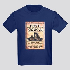 Vintage Fry's Cocoa Ad Kids Dark T-Shirt
