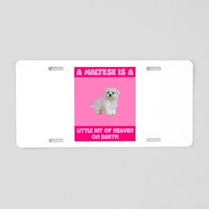 Heavenly Maltese Aluminum License Plate