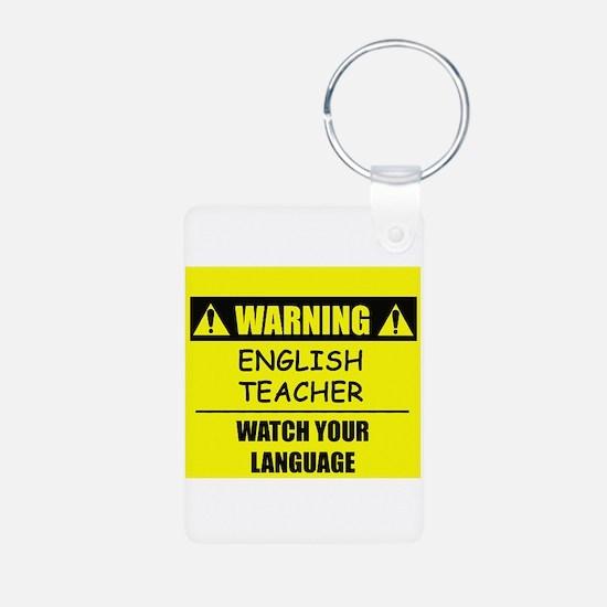 WARNING: English Teacher Keychains