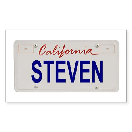 California Steven Rectangle Sticker