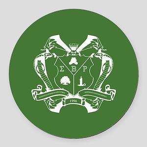 Sigma Beta Rho Fraternity Crest i Round Car Magnet