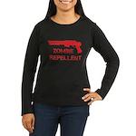 Zombie Repellent Women's Long Sleeve Dark T-Shirt