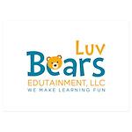 Luv Bears Edutainment 5x7 Flat Cards (Set of 20)