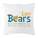 Luv Bears Edutainment Woven Throw Pillow