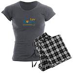 Luv Bears Edutainment Women's Charcoal Pajamas