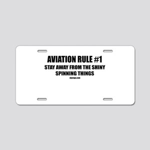 AVIATION RULE #1 Aluminum License Plate