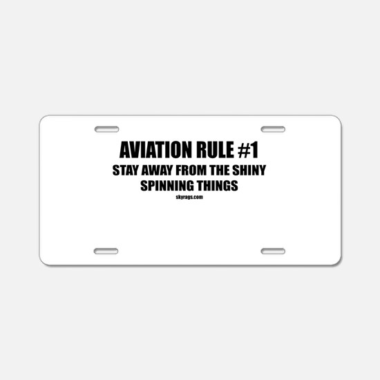 AVIATION RULE #1 Aluminum License Plate