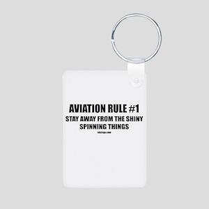 AVIATION RULE  1 Aluminum Photo Keychain d2c0ab944