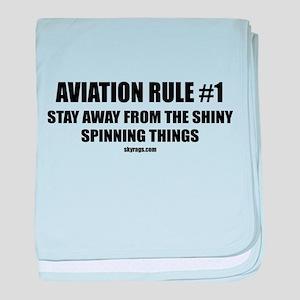 AVIATION RULE #1 baby blanket