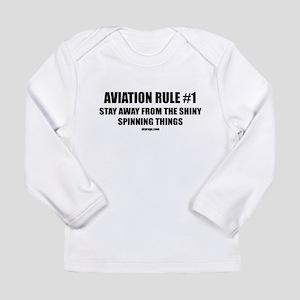 AVIATION RULE #1 Long Sleeve Infant T-Shirt