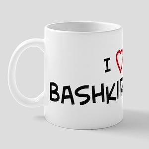 I Love Bashkir Horse Mug