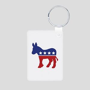 Democrat Donkey Aluminum Photo Keychain