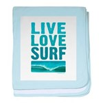 Live Love Surf - baby blanket