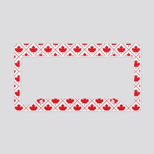 Canadian Maple Leaf Diamond Pattern License Plate
