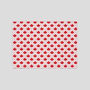 Canadian Maple Leaf Diamond Pattern 5'x7'Area Rug