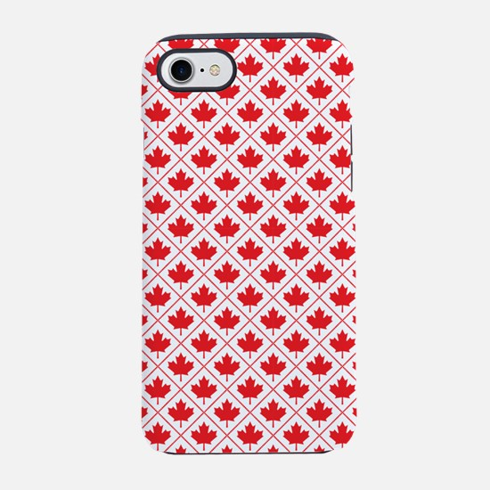 Canadian Maple Leaf Diamond Pattern iPhone 7 Tough