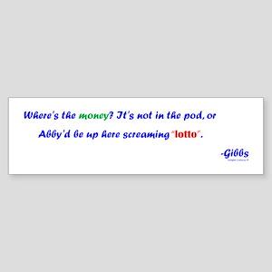 Abby Screaming Lotto Sticker (Bumper)