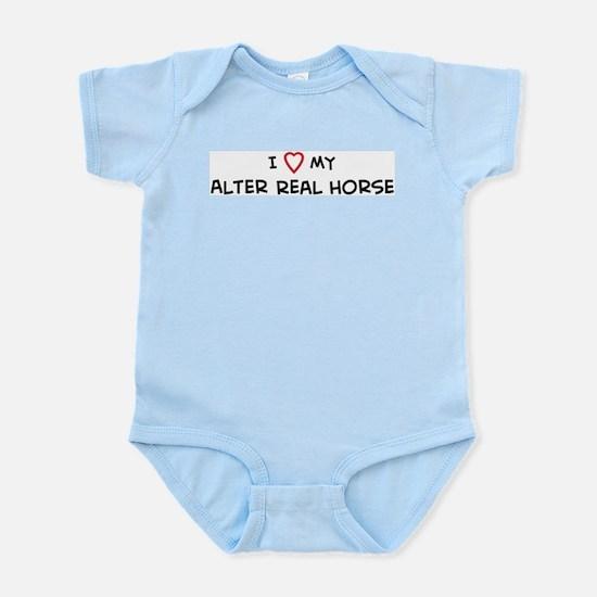 I Love Alter Real Horse Infant Creeper