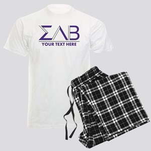Sigma Lambda Beta Letters Per Men's Light Pajamas